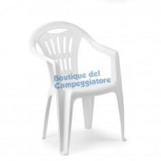 Sedia monoblocco impilabile schienale basso