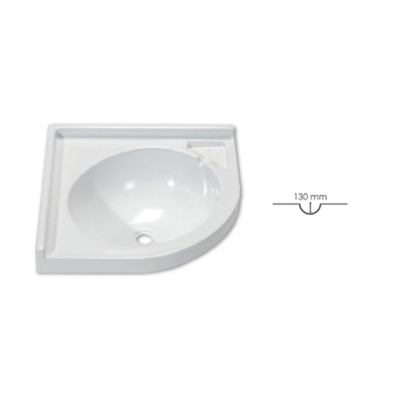 Lavandino per bagno ad angolo L 425 x P 425 mm