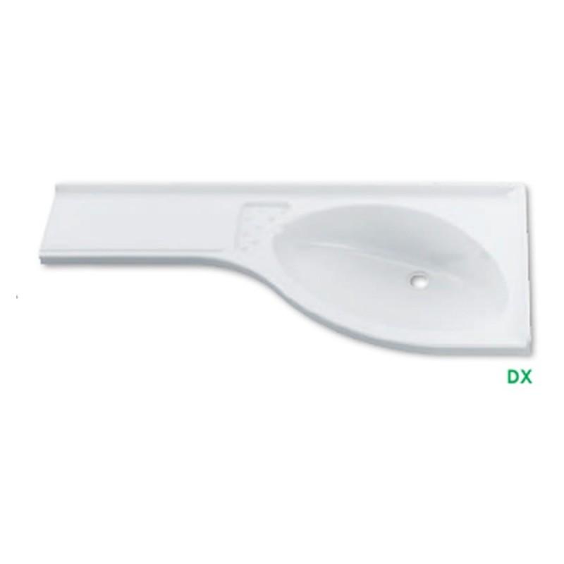 Lavandino per bagno L 840 x P 375 mm (VASCA DX)