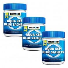 3 Confezioni Aqua Kem Blue Sachets