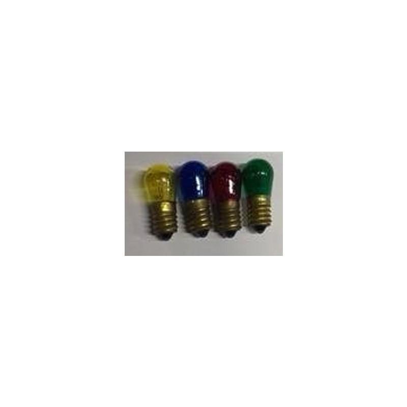 lampadine tecno 14 v 5 w 4 pz colori assortiti