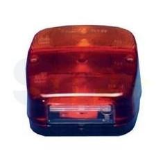 Fanale posteriore 3 funzioni + luce targa